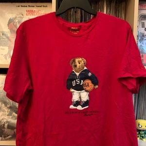 XXL Ralph Lauren Polo Bear Basketball Tee Shirt